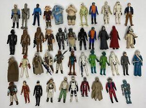 Kenner Star Wars Vintage Lot Of 44 Figures Rebo Band Storm Trooper Weapons