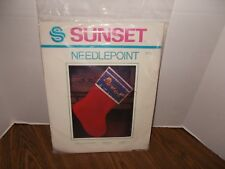 Sunset Needlepoint Christmas Stocking Over The Rooftops Kit No. 6003 NEW SEALED