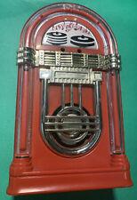 Vintage Portable Novelty Red JUKE BOX AM Transistor Radio WORKS!!