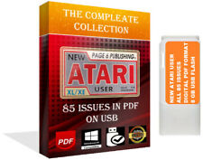 New Atari User Magazine The Complete Collection In PDF All 85 Issues 16 GB USB