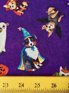 SALE M Miller Fabrics Spooky Poochy Halloween Howl-O-Ween 4 Quilts & Masks