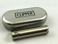 Clipper Jet Flame Chrome gebürstet Feuerzeug Box (ovp) Edel Design