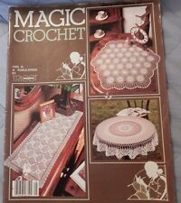 1983 Magic Crochet Doilies Table Clothes Runners Bed Covers Doily patterns more