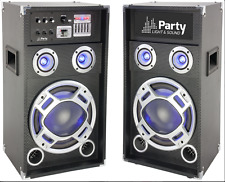 "IBIZA PARTY KARAOKE 10 ""SOUND SYSTEM 400 W DJ Discoteca Illuminazione a Led Bluetooth USB"