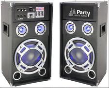"""Ibiza Party Karaoke 12"""" Sound System 600W DJ Disco LED Lighting Bluetooth USB"""