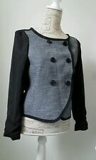 GAP Black white fine check jacket coat Size XS Excellent condition