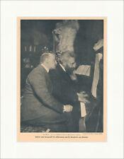 Gabriele D Annunzio und Alberto Franchetti Komponist Dichter F_Vintage 01588