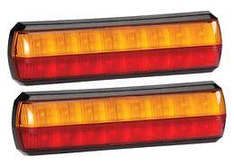 Narva 93812BL2 Multivolt Slimline LED Rear Stop / Tail / Indicator Lamp 2 Pack