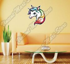 "Cute Unicorn White Horse Horn Animal Wall Sticker Room Interior Decor 20""X25"""