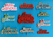 10 ASSORTED MERRY CHRISTMAS / HAPPY CHRISTMAS MOTTO  cake decorations
