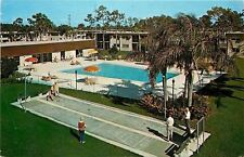 Largo FL~Imperial Palms~Adult Rental Community~Pool~Shuffleboard~1950s~Postcard