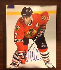 Chris Chelios autograph 8 X 10 signed photo PSA NHL Chicago Blackhawks