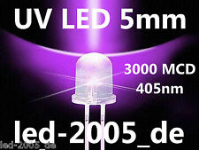 50 x Led UV 5mm,3000 MCD, 405nm, LED UV 5mm, LED 5mm Ultraviolet,