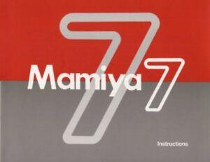 Mamiya 7 Instruction Manual  Original