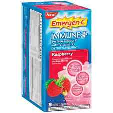 Emergen-C Immune + System with Vitamin D Fizzy Drink Mix, Raspberry 30 ea