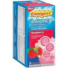 Emergen-C Immune + System with Vitamin D Fizzy Drink Mix, Raspberry 30 ea