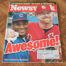 New listing Mark McGwire, Sammy Sosa-Newsweek 9/14/1998-Awesome! - St. Louis Cardinals-Cubs