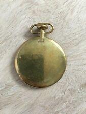 Rare Vintage signed CARL AUBOCK Brass Pocket Watch Paperweight MCM Austria