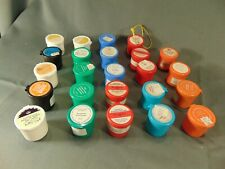 """New listing 24 empty ilm strip containers 1 1/2"""" high multi colored small craft items pins"""