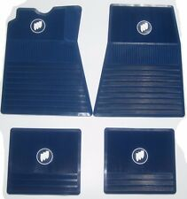 1961-1975 Buick Floor Mats | Blue with Tri-Shield