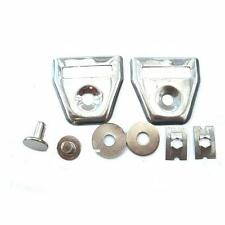 MOTORCYCLE SEAT STRAP BUCKLES / END CAPS & RIVETS KIT NEW