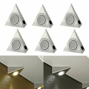 LED MAINS KITCHEN UNDER CABINET CUPBOARD COUNTER TRIANGLE LIGHT UNIT LAMP LIGHTS