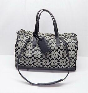 Classic Coach Boston Weekend Luggage Travel Tote Bag 4253 EUC G30