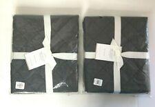 Pottery Barn Belgian Flax Linen Diamond EURO Shams Gray Set of 2 NEW