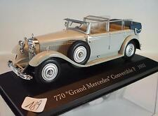 Ixo Altaya 1/43 mercedes benz 770 Grand covertible (1932) en láminas-box #189