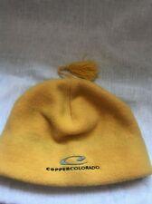 Copper Colorado Skiing Snowboarding Yellow Beenie Winter Cap Hat
