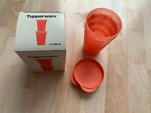 Original Tupper Tupperware Junge Weller Becher mit Deckel (2) neu u. ungenutzt !