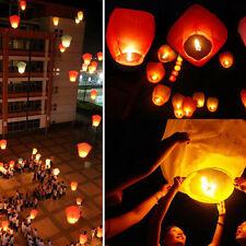 10pcs Flying Sky Paper Lantern Chinese Kongming Lantern Wishing Lamp Fire Ballon