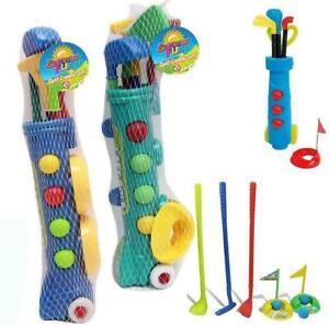 Junior Golf Caddy Set Balls Clubs Trolley Kids Outdoor Garden Child's Game Toy