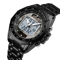 SKMEI Men's Sport Solar Power Waterproof Digital Analog Quartz Alarm Wrist Watch