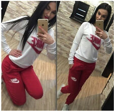 UK  Women Tracksuit Hoodies Sweatshirt Pants Sets Sport Wear Zipper Casual Suit