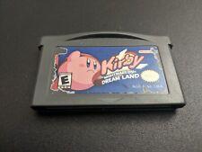 Kirby Nightmare in Dream Land Nintendo Game Boy Advance EX authentic cartridge