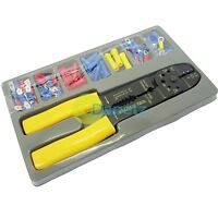 101 Electrical Electricians Crimper Tool Kit Terminal Set Crimping Wire Cutter