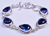 925 Sterling Silver Overlay Bracelet, Gemstone Handcrafted Women Jewelry PBR1