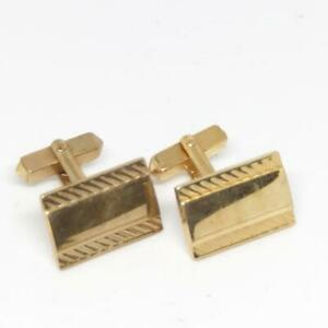 Vintage Mens Swank Gold Tone Design Mid Century Cufflink Set