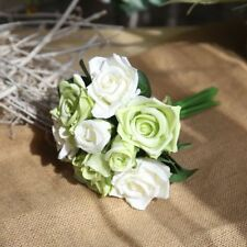 Simulation 9 roses bouquet wholesale fake flowers foreign trade wedding bouquet