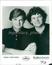 1986 Portrait of the Everly Brothers Original News Service Photo