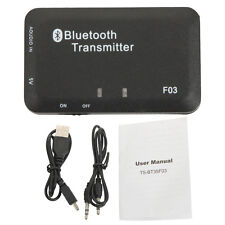 Bluetooth Wireless A2DP 3.5mm Stereo Music Audio Dongle Transmitter + Manual New