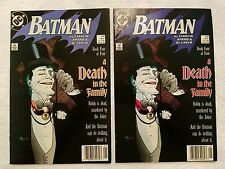 (2) DC Comics Batman A Death In The Family #'s 429 Book 4 (Jan. 1988/89) F/VF