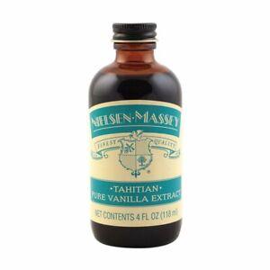 Nielsen Massey Finest Quality Tahitian Pure Vanilla Extract 4 Fl Oz - EXP 12/23
