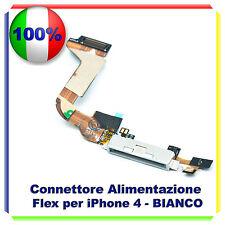 FLAT CONNETTORE DI RICARICA PER IPHONE 4 BIANCO MICROFONO CONNETTORE DOCK