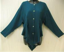 TIENDA HO~Teal~Susti Boucle Stripe~NAJMA TOP~Coattail~Quilted~FITTED~Gored~OS