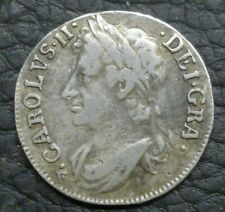 More details for scotland milled silver charles ii eighth dollar 1680 2nd coinage s5622 nice vf