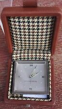 VINTAGE COLLECTIBLE CUTTER & BUCK TRAVEL ALARM CLOCK IN LEATHERETTE CASE