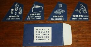 10x Tung-Sol Tubes Transistors 1960s Promo 4 piece Basic Square Novelty puzzle