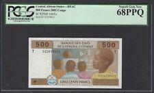 Congo - Central African States,BEAC 500 Francs 2002 P106Tc Uncirculated Grade 68